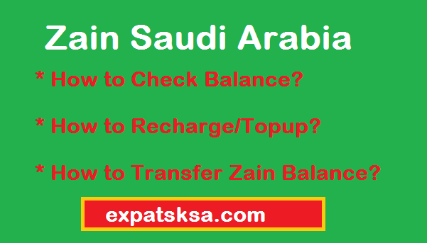 Zain Saudi Arabia How To Check Balance Or Recharge Topup Your Account Balance Expatsksa Com